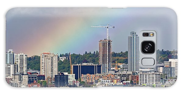 Rainbow Over Seattle Galaxy Case