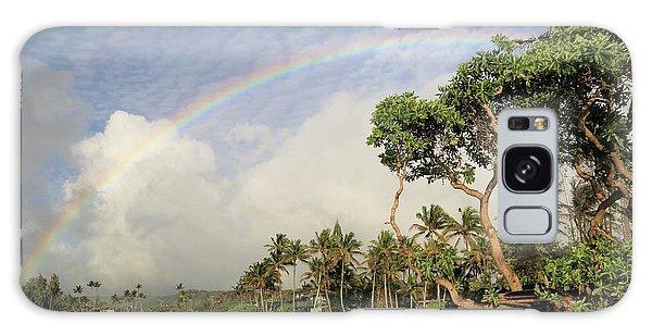 Rainbow Over The Beach Galaxy Case