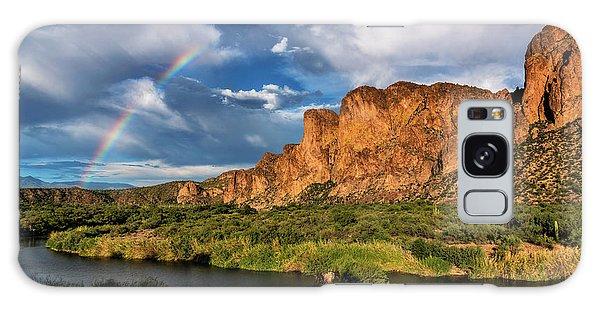 Galaxy Case featuring the photograph Rainbow Over The Bulldogs  by Saija Lehtonen