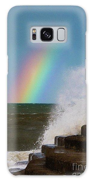Rainbow Over The Crashing Waves Galaxy Case