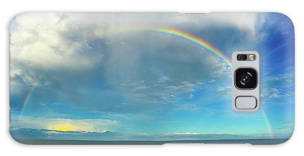 Rainbow Over Topsail Island Galaxy Case by John Pagliuca