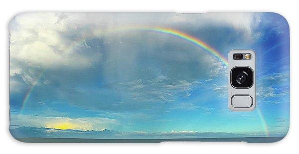 Rainbow Over Topsail Island Galaxy Case