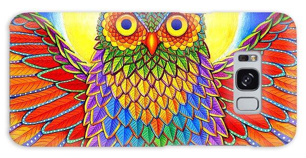 Rainbow Owl Galaxy Case