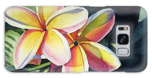 Rainbow Plumeria Galaxy Case
