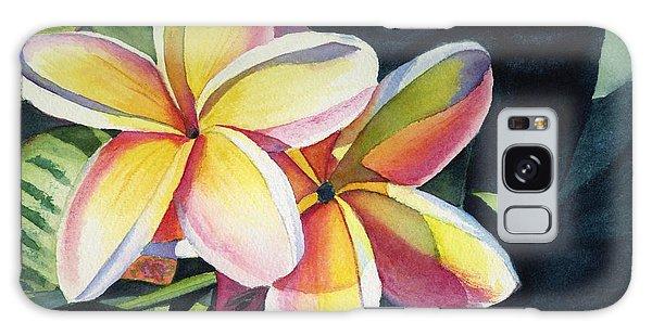 Flower Galaxy S8 Case - Rainbow Plumeria by Marionette Taboniar
