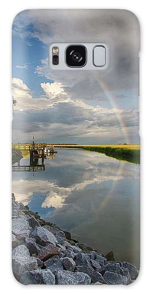 Rainbow Reflection Galaxy Case by Patricia Schaefer