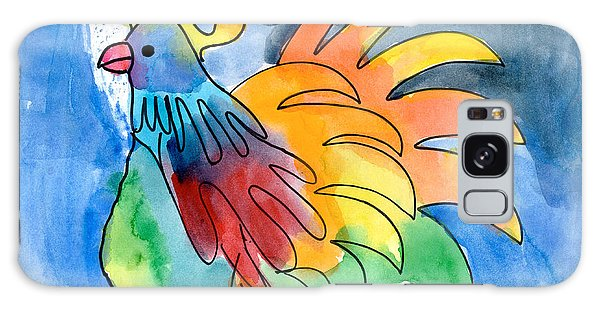 Rainbow Rooster Galaxy Case