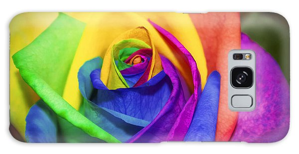 Rainbow Rose In Paint Galaxy Case