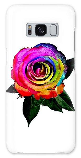 Rainbow Rose  Galaxy Case