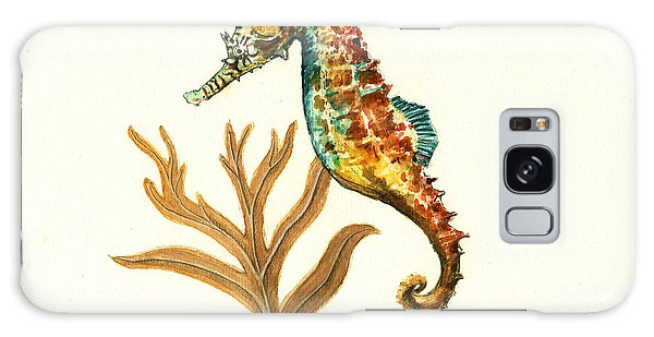 Rainbow Seahorse Galaxy Case by Juan Bosco