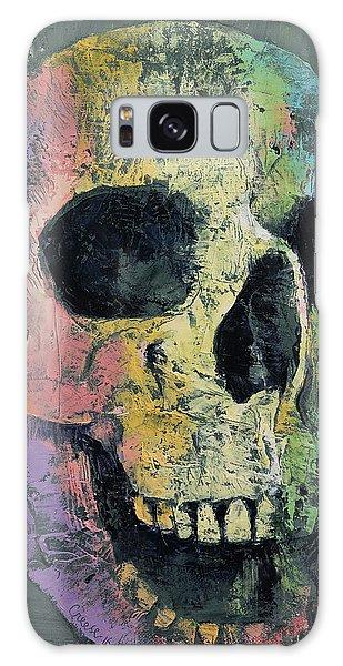Skull Galaxy Case - Happy Skull by Michael Creese