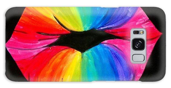 Rainbow Smooch Galaxy Case by Marisela Mungia
