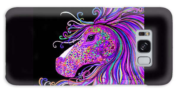 Rainbow Spotted Horse Head 2 Galaxy Case by Nick Gustafson