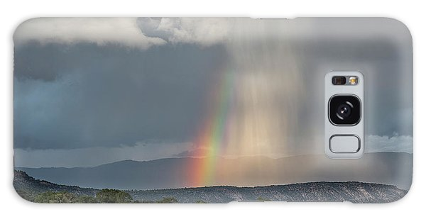 Rainbow Storm Over Log Hill Galaxy Case