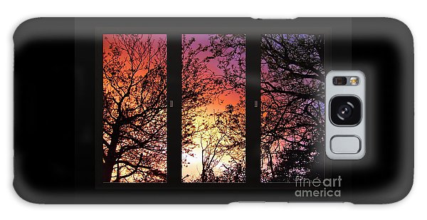 Rainbow Sunset Through Your Window Galaxy Case