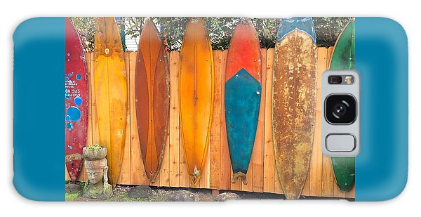 Surfboard Rainbow Galaxy Case by Brenda Pressnall