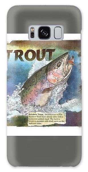 Galaxy Case featuring the drawing Rainbow Trout by John Dyess
