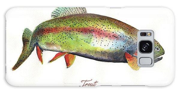 Trout Galaxy Case - Rainbow Trout by Juan Bosco