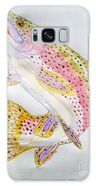 Rainbow Trout Presented In Colored Pencil Galaxy Case by Scott D Van Osdol