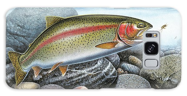 Rainbow Trout Stream Galaxy Case
