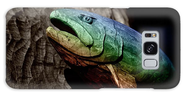 Rainbow Trout Wood Sculpture Galaxy Case by John Stephens