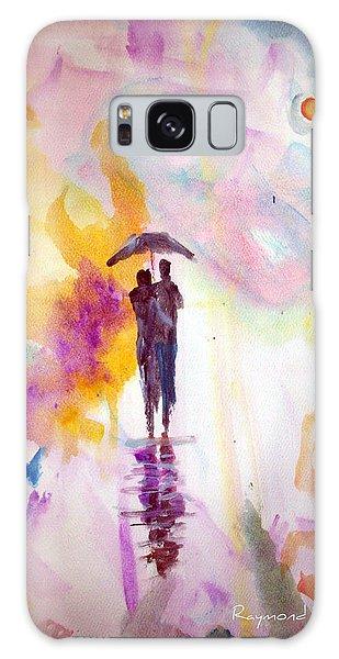 Rainbow Walk Of Love Galaxy Case by Raymond Doward