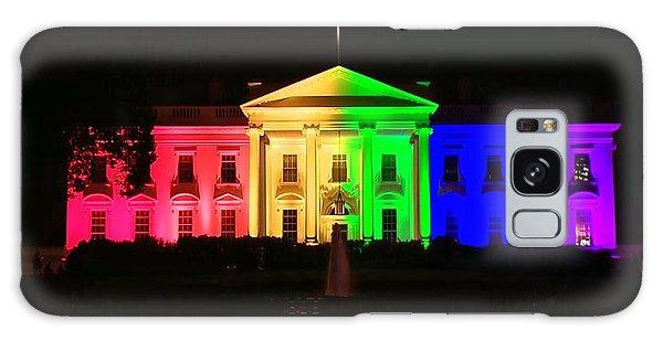 Rainbow White House Galaxy Case