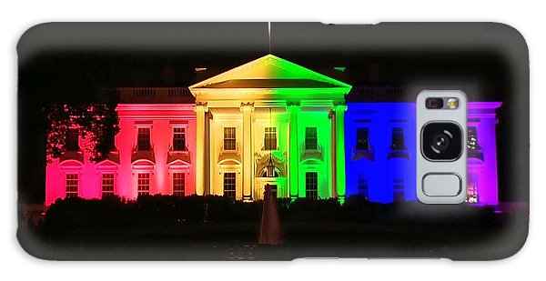 Rainbow White House Galaxy Case