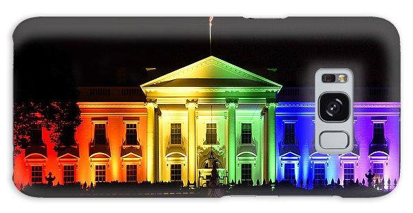 House Galaxy Case - Rainbow White House  - Washington Dc by Brendan Reals