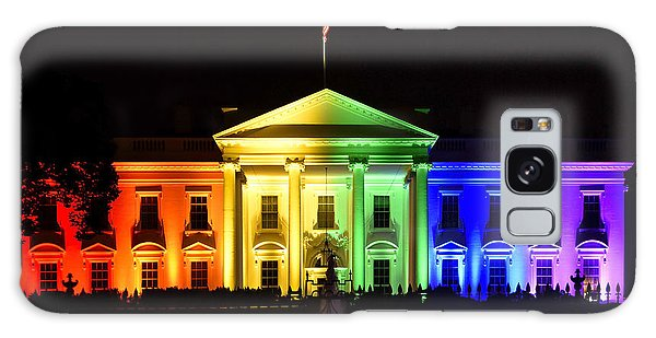 Washington D.c Galaxy Case - Rainbow White House  - Washington Dc by Brendan Reals