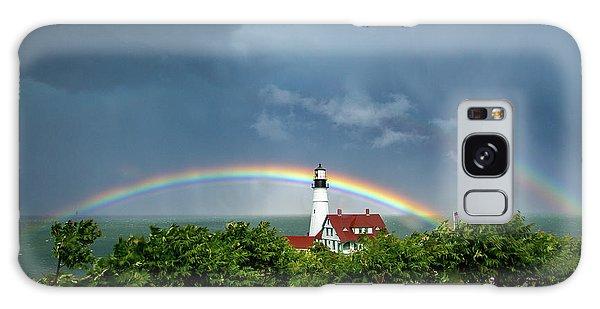 Rainbow X 2 At Portland Headlight Galaxy Case
