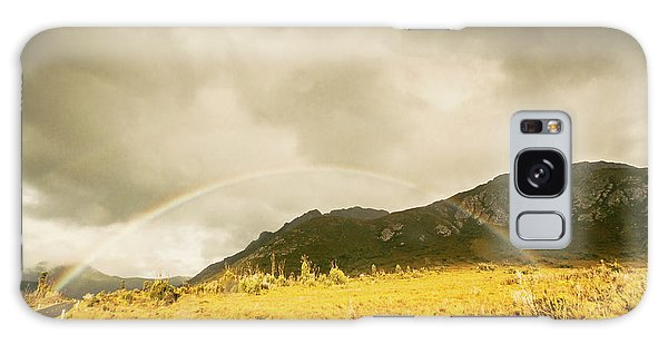 Outdoors Galaxy Case - Raindrops In Rainbows by Jorgo Photography - Wall Art Gallery