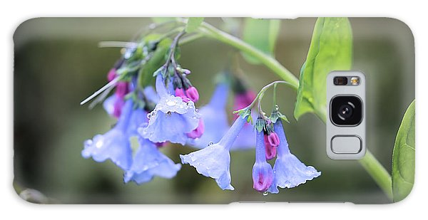Raindrops On Blue Bells Galaxy Case