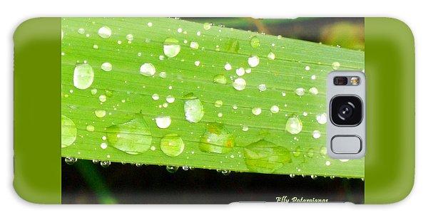 Raindrops On Leaf Galaxy Case