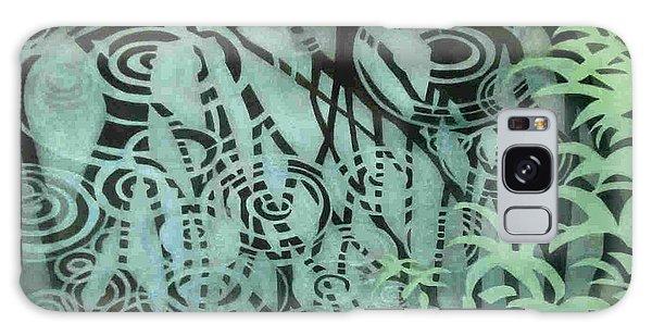 Raindrops-on-raindrops Galaxy Case by Anne Havard