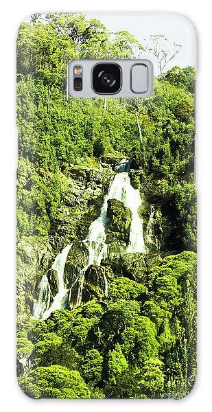 Stone Wall Galaxy Case - Rainforest Rapids by Jorgo Photography - Wall Art Gallery