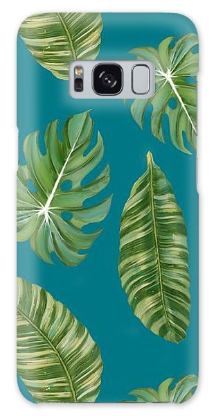 Rainforest Resort - Tropical Leaves Elephant's Ear Philodendron Banana Leaf Galaxy Case