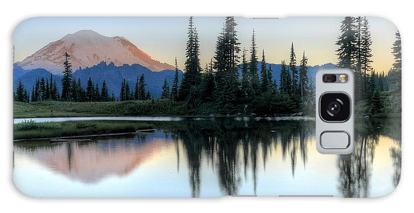 Rainier From Tipsoo Galaxy Case by Peter Mooyman