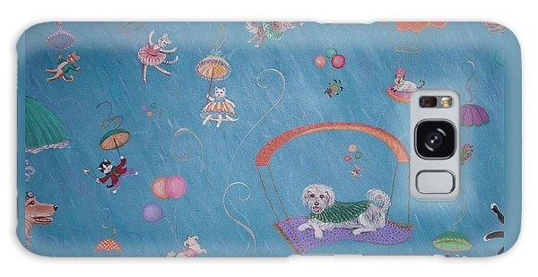 Raining Cats And Dogs Galaxy Case