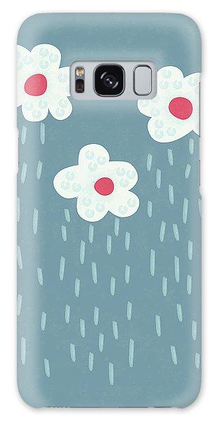 Raining Flowery Clouds Galaxy Case