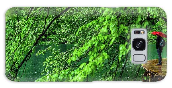 Raining Serenity - Plitvice Lakes National Park, Croatia Galaxy Case