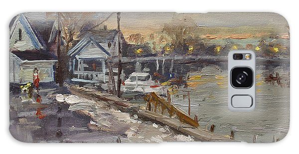 Evening Galaxy Case - Rainy And Snowy Evening By Niagara River by Ylli Haruni