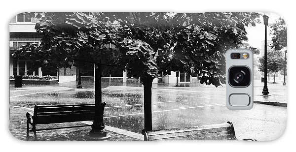 Rainy Day - A Moody Black And White Photograph Galaxy Case