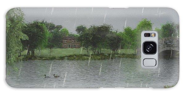 Rainy Day At The Lake Galaxy Case