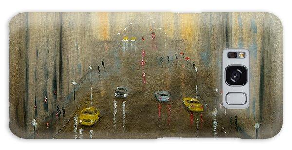 Rainy Day Cityscape Galaxy Case