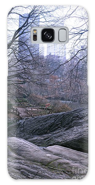 Rainy Day In Central Park Galaxy Case by Sandy Moulder