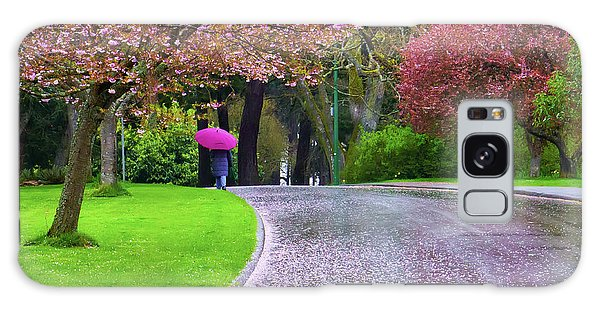 Rainy Day In The Park Galaxy Case