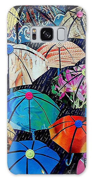 Rainy Day Personalities Galaxy Case by Susan DeLain