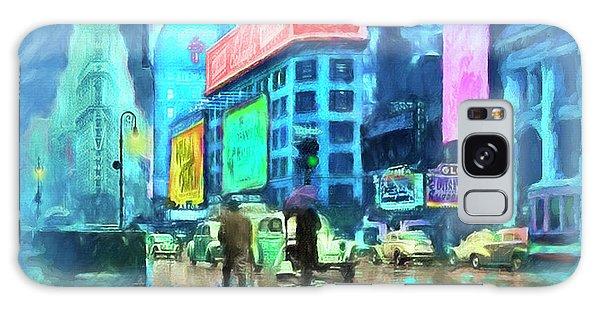 Rainy Night In New York Galaxy Case by Michael Cleere