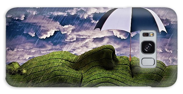 Rainy Summer Day Galaxy Case by Mihaela Pater